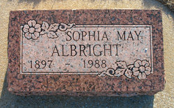 Sophia May <i>Brown</i> Albright