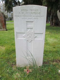 Pvt Alfred Henry Allistone