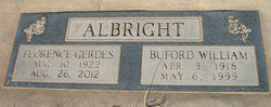 Florence E <i>Gerdes</i> Albright