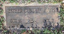 Esther <i>Cundiff</i> Alvis