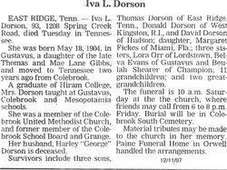 Iva Lucille <i>Gibbs</i> Dorson