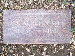 Louise O <i>Hegtrom</i> Hensley