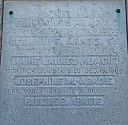 Marie <i>Lannes</i> Abadie