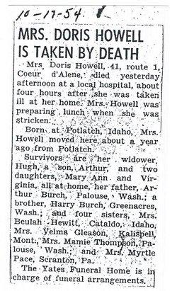 Doris Lucille <i>Burch</i> Howell