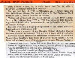 Mary Frances Fran <i>Brown-Honaker</i> Walker