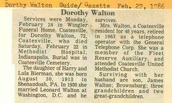 Dorothy M. Walton