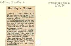 Dorothy V. Walton