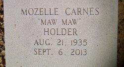 Mozelle MawMaw <i>Carnes</i> Holder