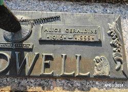 Alice Geraldine 'Jerry' <i>Waters</i> Caldwell