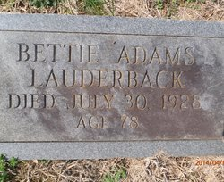 Bettie <i>Adams</i> Lauderback