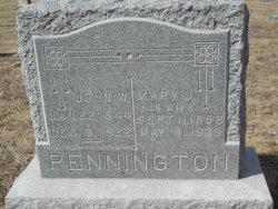 Mary Jane <i>Smith</i> Pennington