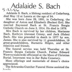 Adelaide <i>Ertl</i> Bach