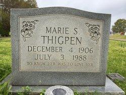 Marie Dorman <i>Spencer</i> Thigpen