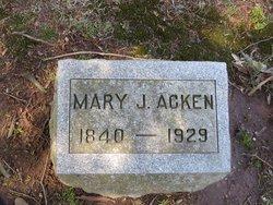 Mary Jane <i>Edgar</i> Acken