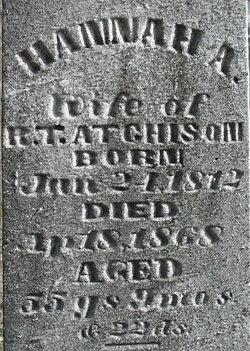 Hannah A. <i>Allen</i> Atchison