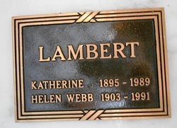 Katherine <i>Webb</i> Lambert