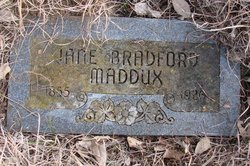 Sarah Jane Sallie <i>Bradford</i> Maddux