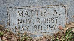 Mattie A Baker