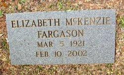 Elizabeth <i>McKenzie</i> Fargason