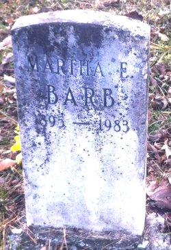 Martha Elizabeth <i>Barrick</i> Barb