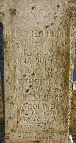Anna Frances <i>Quimby</i> Benbrook