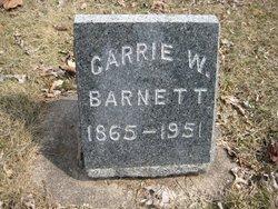 Caroline May Carrie <i>Wilburn</i> Barnett