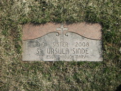 Sr Mary Ursula Sinde