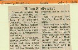 Helen S <i>Cochran</i> Stewart