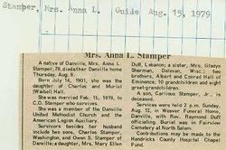 Anna Laura <i>Hall</i> Stamper