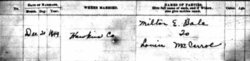 Pvt Milton Edward Ball