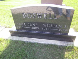 Sara Jane Sady <i>Boswell</i> Boswell