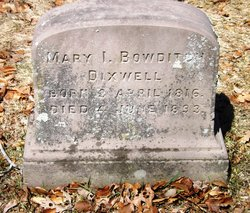 Mary Ingersoll <i>Bowditch</i> Dixwell