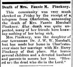 Fannie Calvert <i>Marshall</i> Pinckney
