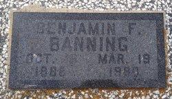 Benjamin F Banning