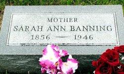 Sarah Ann Elizabeth <i>Rogers</i> Banning