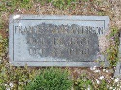 Frances <i>Evans</i> Anderson