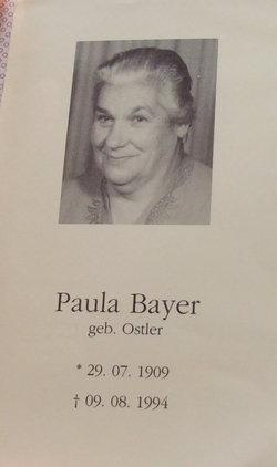 Paula <i>Ostler</i> Bayer