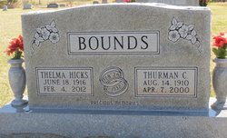 Thelma Agness <i>Hicks</i> Bounds