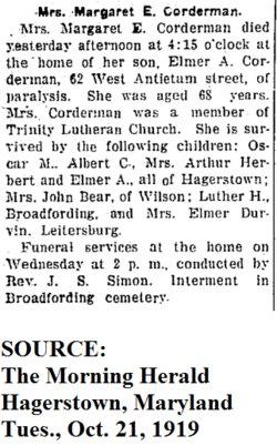 Margaret E <i>Hauer</i> Corderman