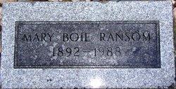 Mary <i>Boie</i> Ransom