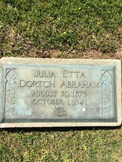 Julia Etta <i>Dortch</i> Abraham