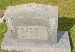 Minnie Watts <i>Bonds</i> Bayhi