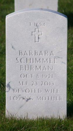 Mrs Barbara <i>Schimmel</i> Burman