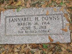 Frances Arabelle Fannie Bell <i>Holmes</i> Downs