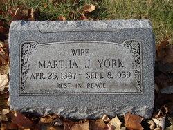 Martha J York