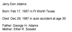 Jerry Don Adams