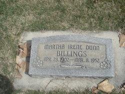 Martha Irene <i>Dunn</i> Billings