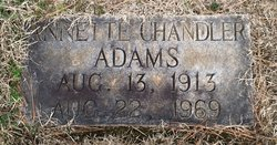 Annette <i>Chandler</i> Adams