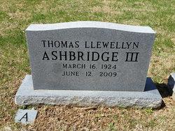 Thomas Llewellyn Ashbridge, III