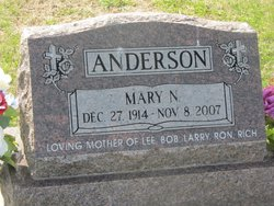 Mary N. <i>Carter</i> Anderson